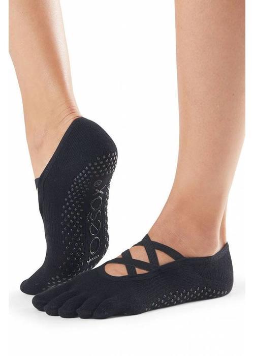 Toesox Toesox Yoga Sokken Elle Dichte Tenen - Zwart