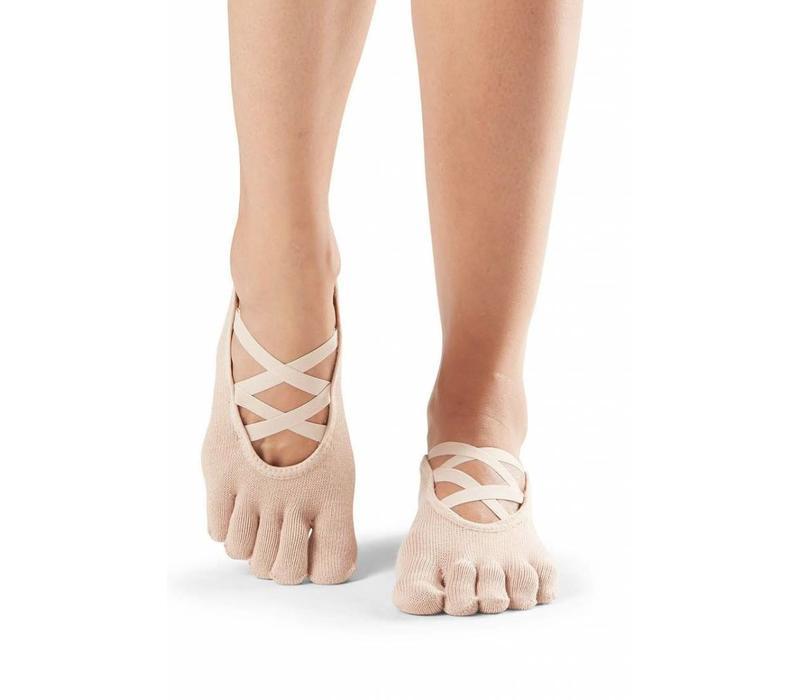 Toesox Yoga Sokken Elle Dichte Tenen - Nude