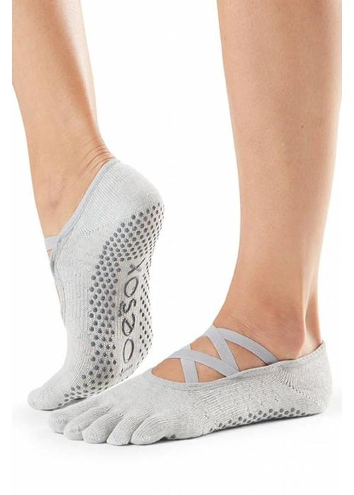 Toesox Toesox Yoga Sokken Elle Dichte Tenen - Blizzard