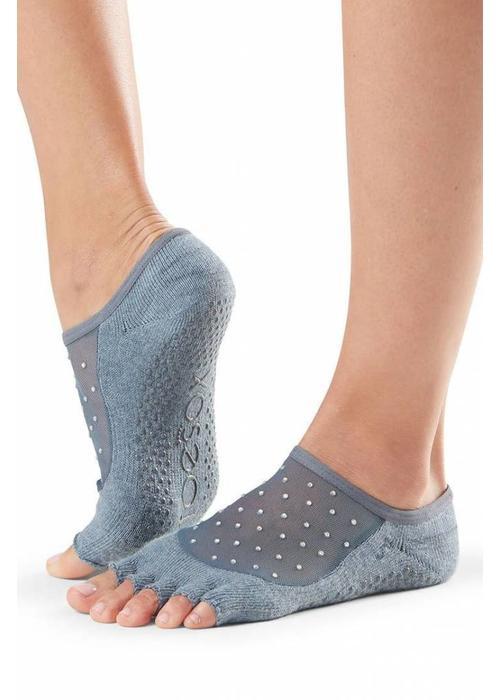 Toesox Toesox Yoga Sokken Luna Open Tenen - Icicle