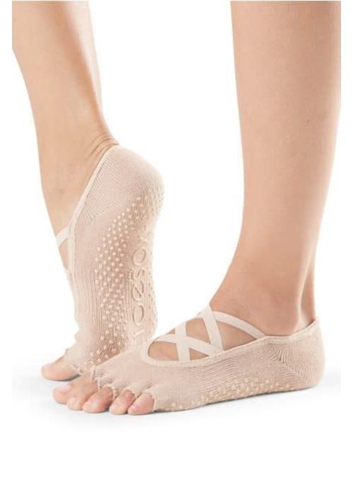 Toesox Toesox Yoga Sokken Elle Open Tenen - Nude