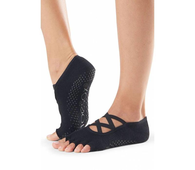 Toesox Elle Half Toe - Black