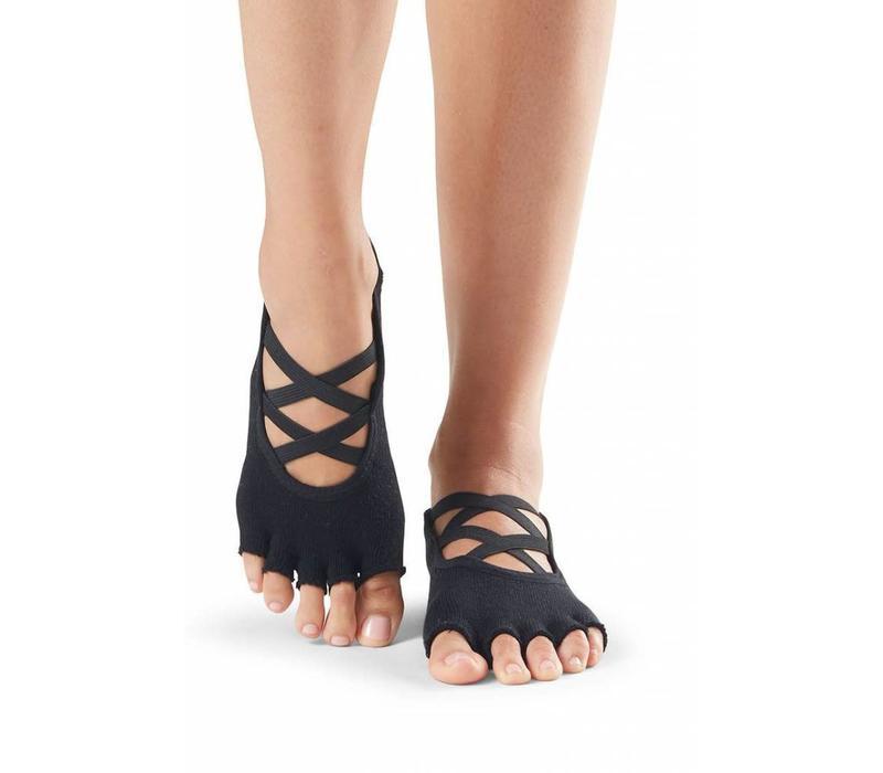 Toesox Yoga Sokken Elle Open Tenen - Zwart