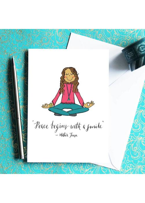 Che Dyer Yoga Postkarte - Lotus Girl