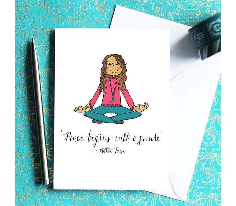 Yoga Postkarte - Lotus Girl