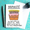 Che Dyer Yoga Postcard - Namaste Cake