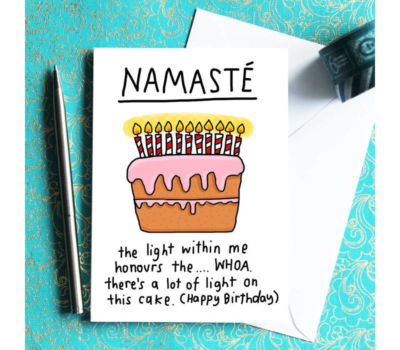 Yoga Ansichtkaart - Namaste Cake