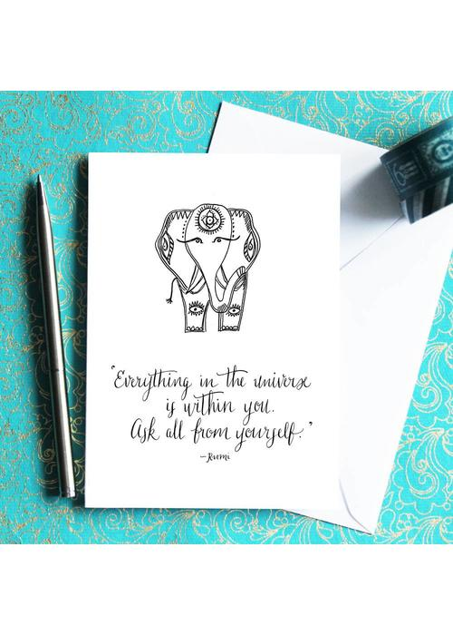 Che Dyer Yoga Postcard - Rumi Ellie