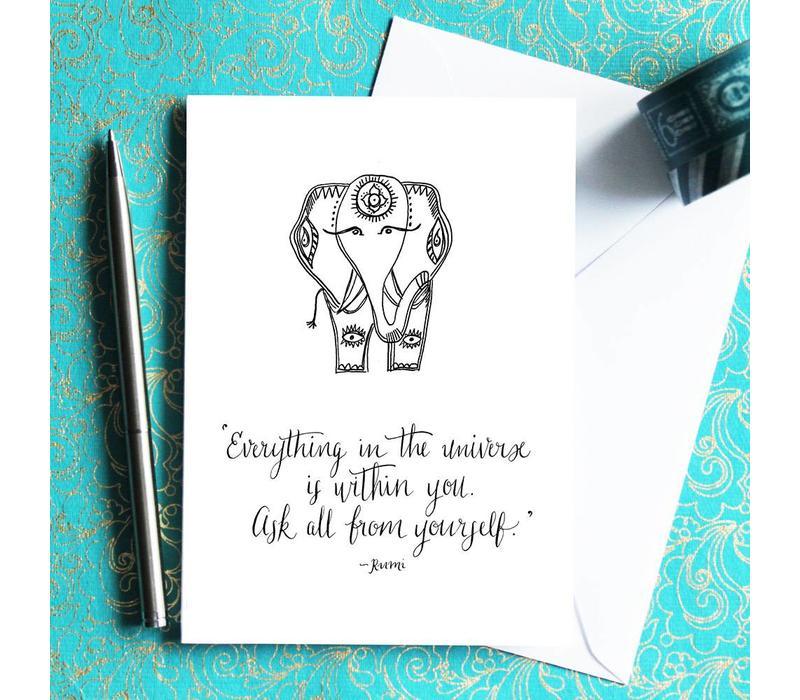 Yoga Postcard - Rumi Ellie