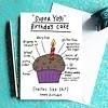 Che Dyer Yoga Postcard - Super Yogi Cake