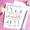 Che Dyer Yoga Postcard - Sun Salutation Sequence