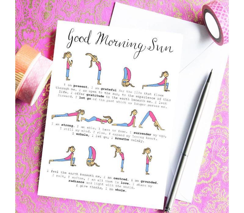 Yoga Ansichtkaart - Sun Salutation Sequence