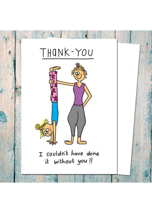 Che Dyer Yoga Postcard - Thank You Yoga Teacher