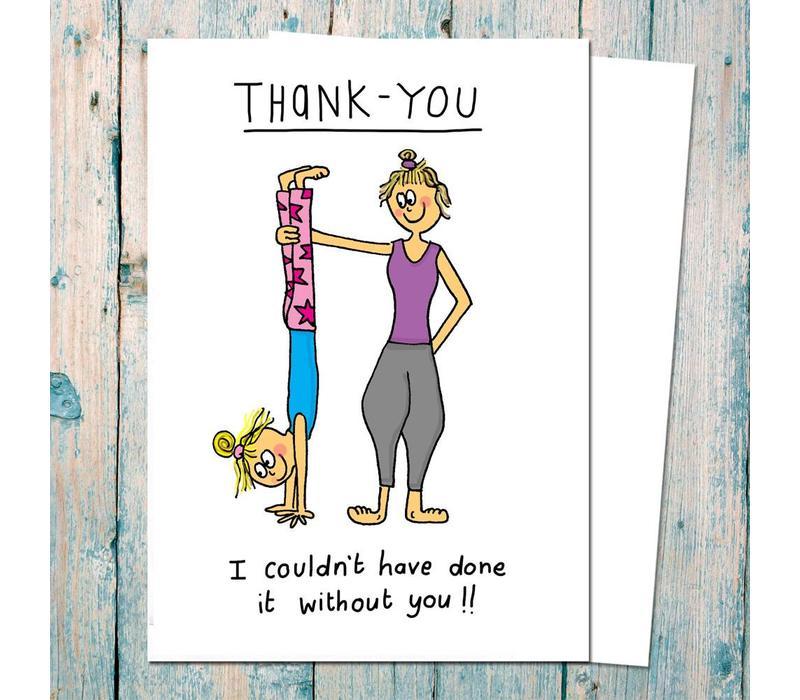 Yoga Ansichtkaart - Thank You Yoga Teacher
