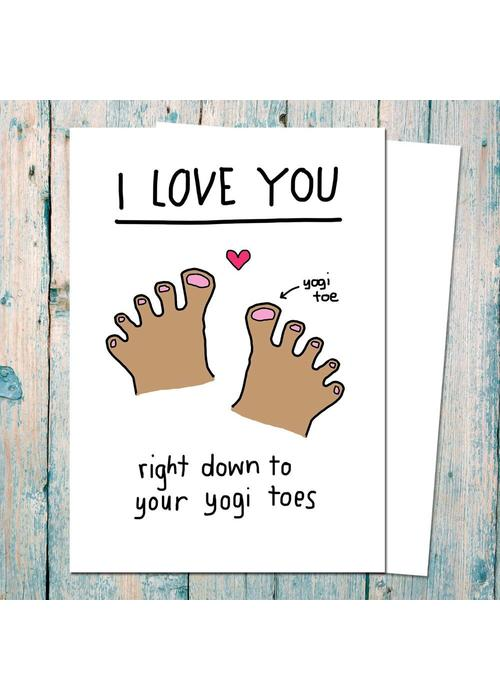 Che Dyer Yoga Postcard - Yogi Toes