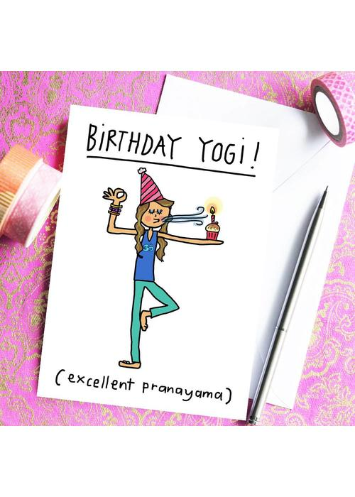 Che Dyer Yoga Postcard - Birthday Yogi