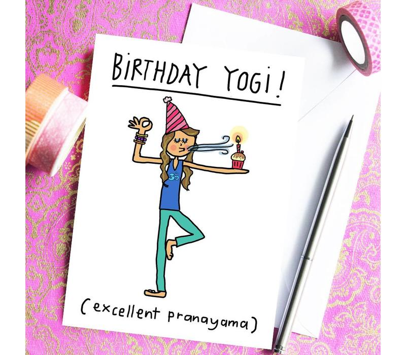 Yoga Ansichtkaart - Birthday Yogi