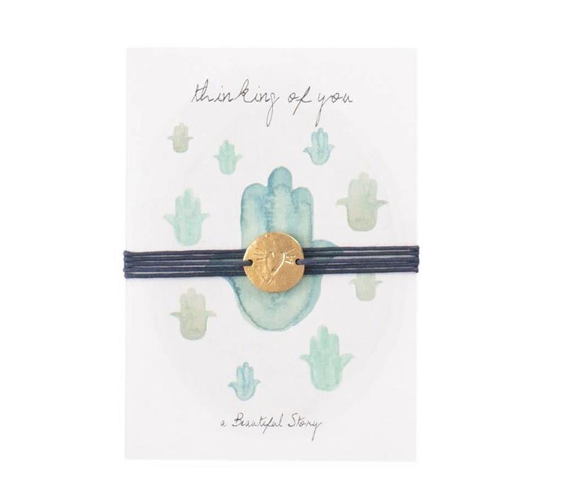 A Beautiful Story Jewelry Postcard - Hamsa