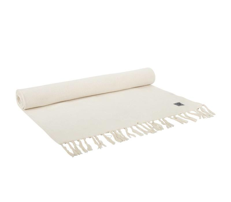 Yoga Rug Organic Cotton 200cm 65cm 2mm - Natural