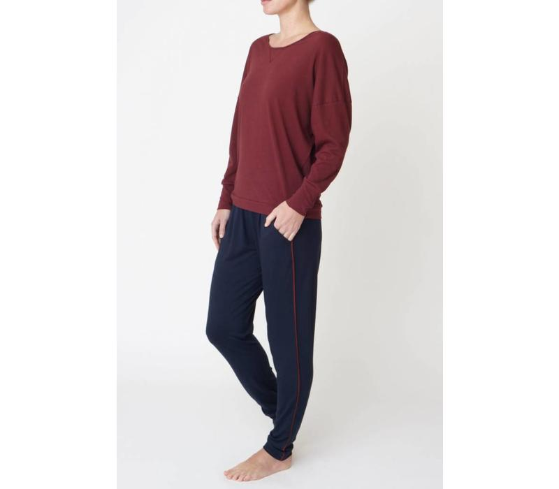 Asquith Divine Pants - Navy/Claret