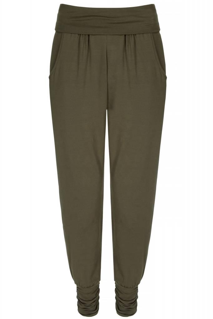 2241220484 Asquith Long Harem Pants - Khaki - Yogisha Amsterdam