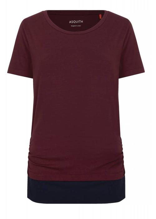Asquith Asquith Bend It Tee - Claret/Navy