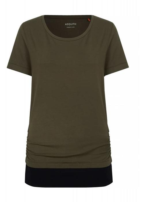 Asquith Asquith Bend It Tee - Khaki/Jet Black
