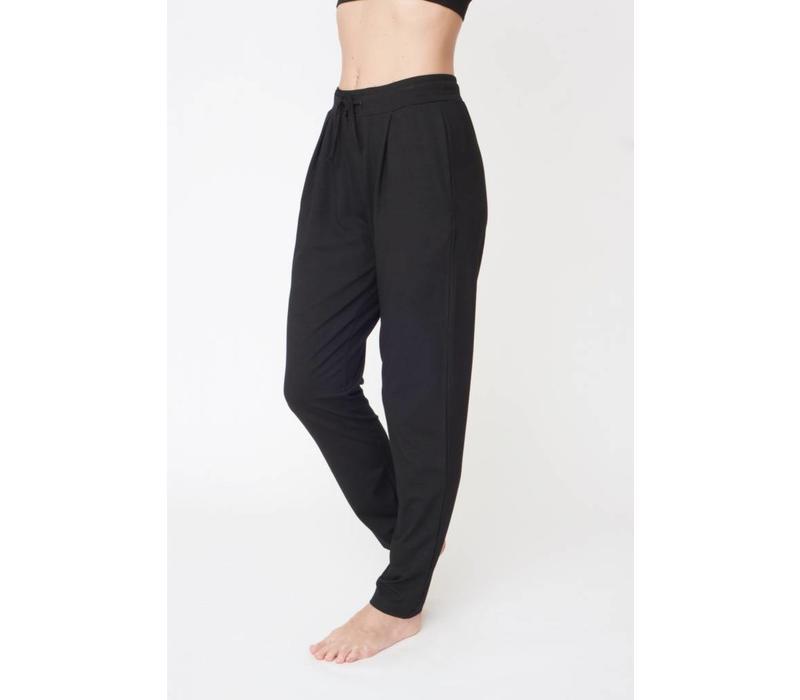 Asquith Drawstring Pants - Jet Black