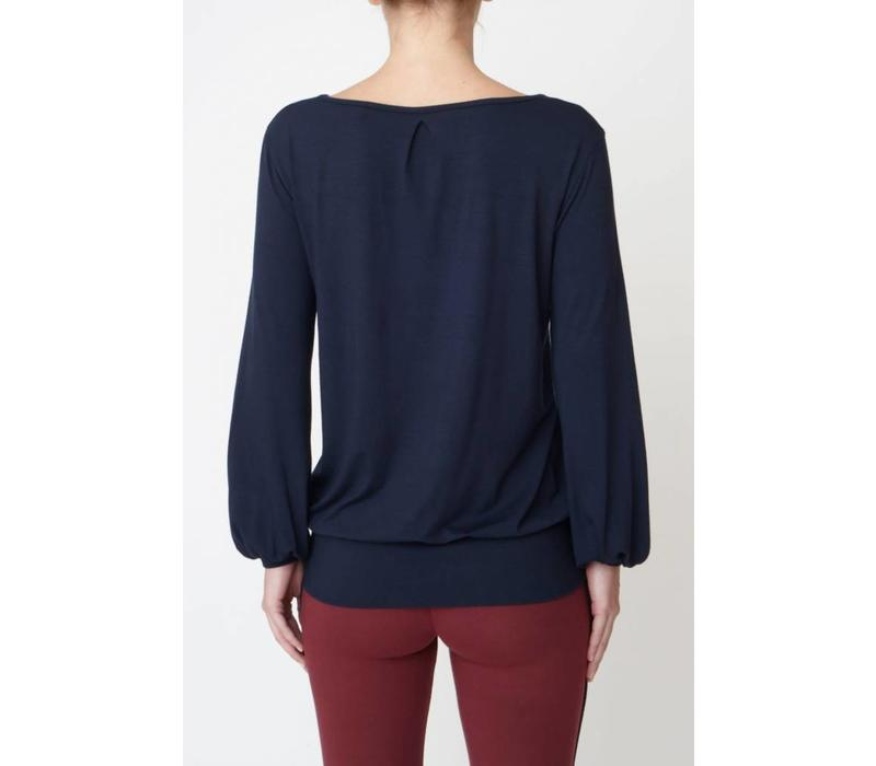 Asquith Long Sleeve Smooth You Tee - Navy