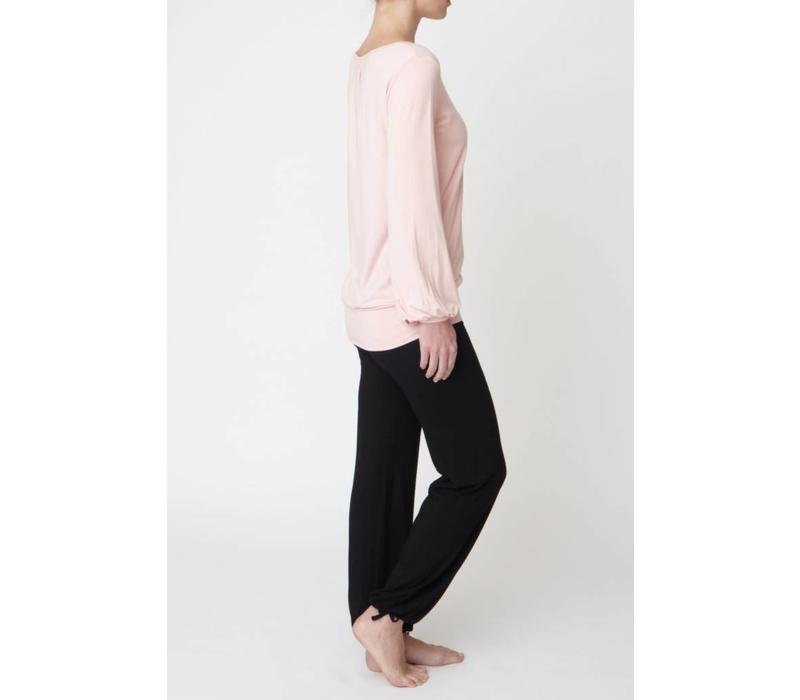 Asquith Long Sleeve Smooth You Tee - Pearl Pink