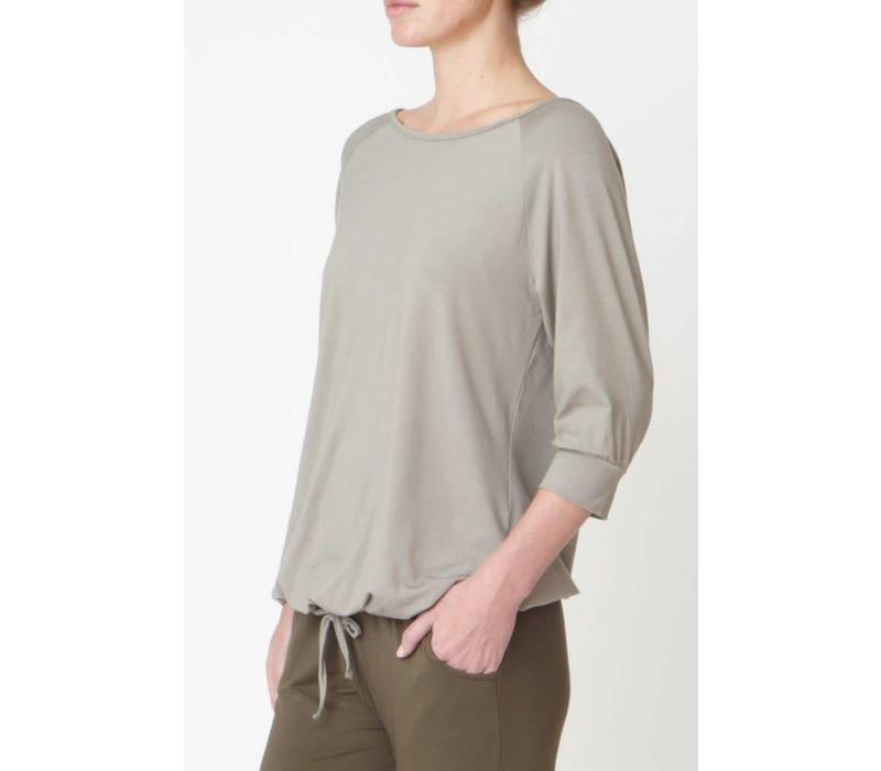 Asquith Blouson Tee - Fossil