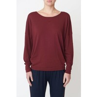 Asquith Long Sleeve Batwing - Claret