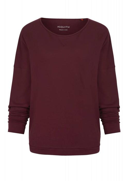 Asquith Asquith Long Sleeve Batwing - Claret