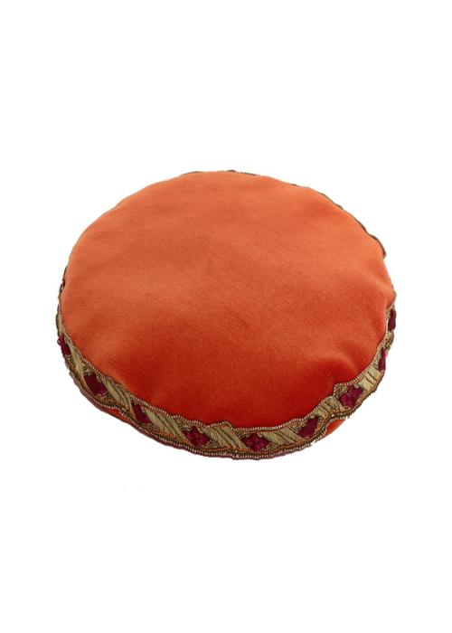 Lotus Design Singing Bowl Cushion Round - Small