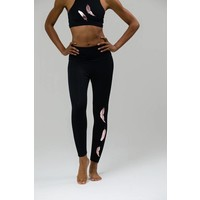 Onzie Foil Legging - Rose Gold Feather