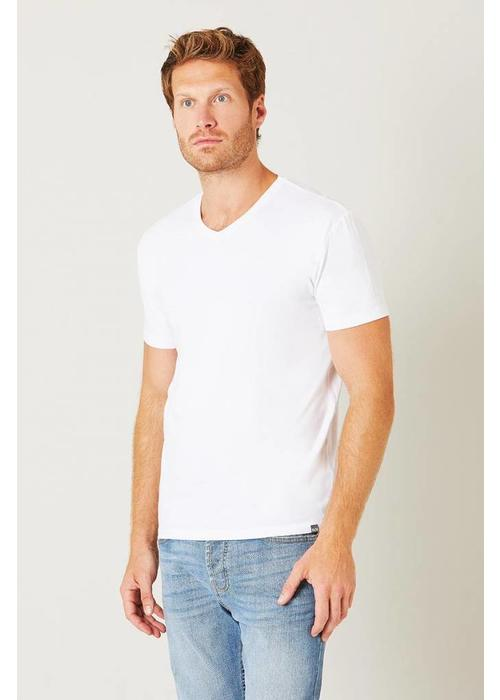 Bam Bam V-Neck T-Shirt - White