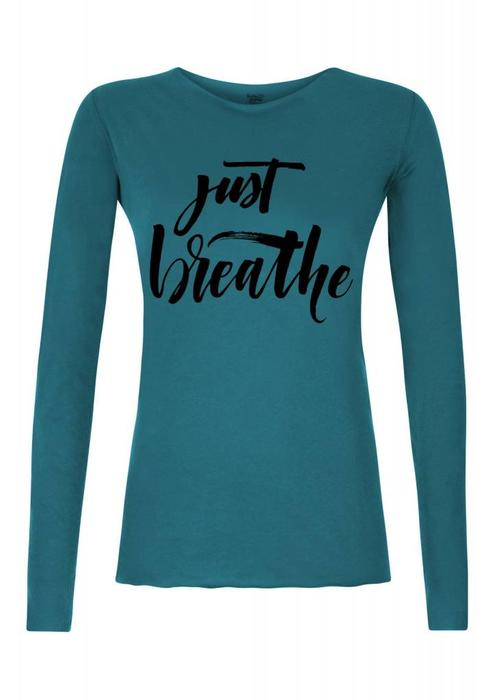 Urban Goddess Urban Goddess Just Breathe Yoga Shirt - Stardust
