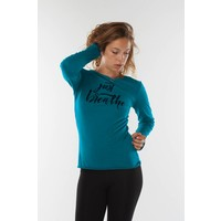 Urban Goddess Just Breathe Yoga Shirt - Stardust