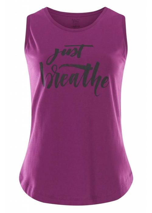Urban Goddess Urban Goddess Just Breathe Yoga Tank Top - Rock Crystal