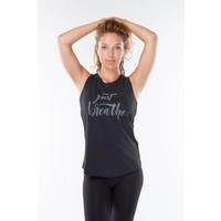 Urban Goddess Just Breathe Yoga Tank Top - Urban Black