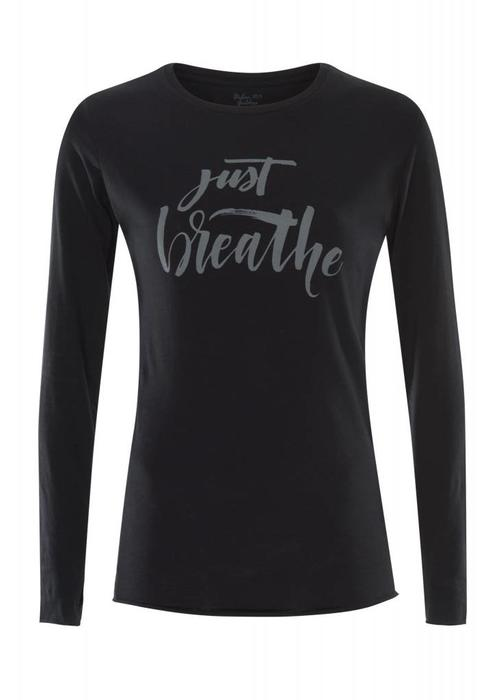 Urban Goddess Urban Goddess Just Breathe Yoga Shirt - Urban Black
