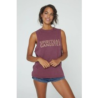 Spiritual Gangster Cut Off Band Tank - Amor
