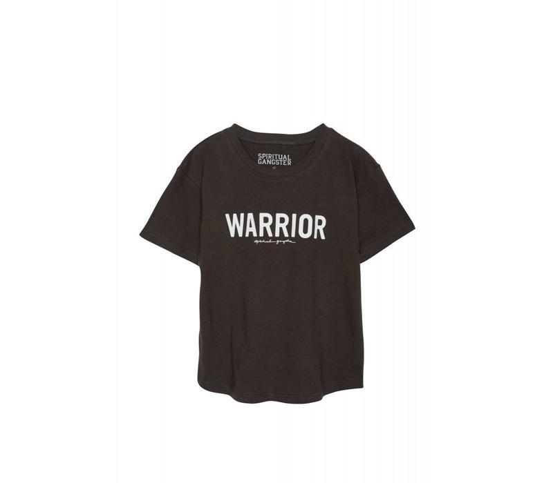 Spiritual Gangster Warrior Kids Tee - Vintage Black