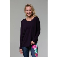 Onzie Braid Back Long Sleeve - Aubergine One Size