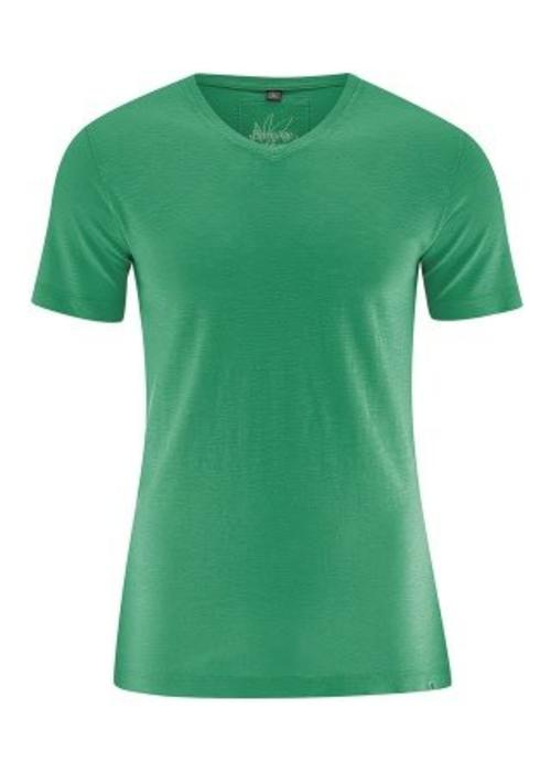 HempAge HempAge V-Neck T-Shirt - Smaragd