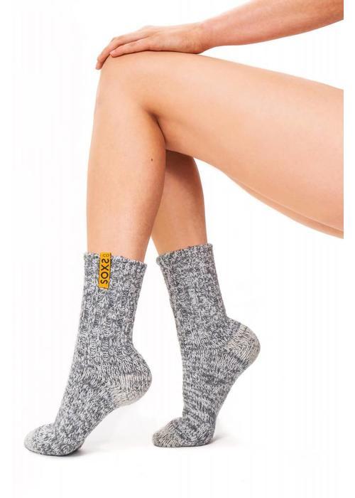 Soxs Soxs Women's Socks - Grey Half High