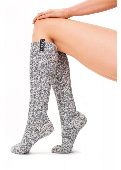 Soxs Soxs Dames Sokken - Grey Knee High