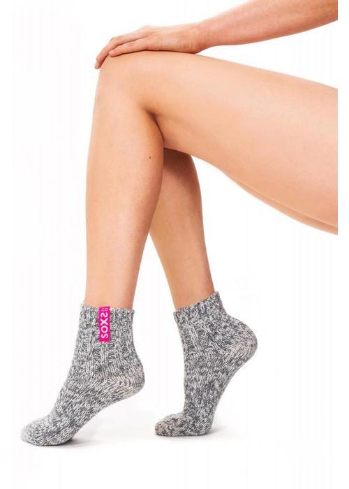 Soxs Soxs Women's Socks - Grey Low