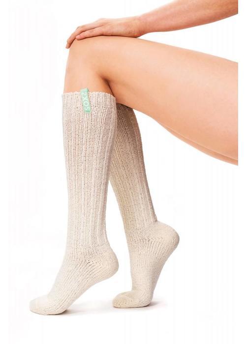 Soxs Soxs Women's Socks - Off White Knee High