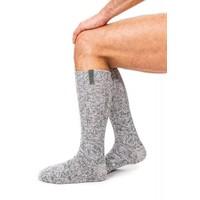 Soxs Heren Antislip Sokken - Grey Green Knee High